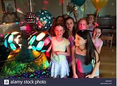 9 Year At Disco Birthday Stock Photo