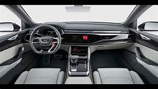 audi q8 concept large suv first look at 2017 detroit auto show detail in interior view
