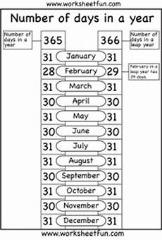 worksheets months 18961 number of days in a year 1 worksheet free printable worksheets worksheetfun