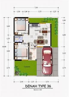 10 Gambar Denah Rumah Minimalis Type 36 Rumah Idaman