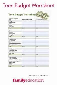 saving money worksheets for highschool students 2184 skills preparing a budget health edventure products skills budgeting