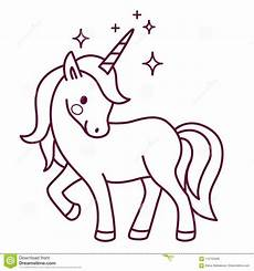 unicorn simple vector coloring page