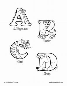 printable coloring pages uppercase letters animals
