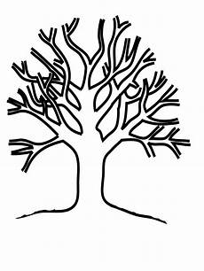tree without leaves coloring page to print and