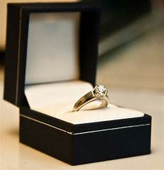 gold wedding ring in box