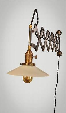 vintage industrial scissor light expandable accordion swing arm wall sconce steunk l