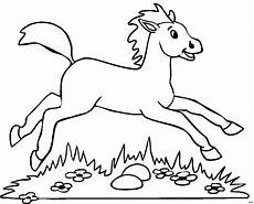 ausmalbilder pferde leicht dieses bild herunterladen