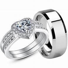 couple rings sterling silver womens wedding rings mens stainless rings ebay