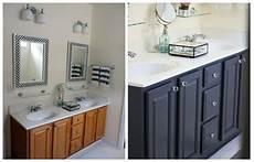 Bathroom Ideas Oak Cabinets by 4 Ideas How To Update Oak Wood Cabinets White
