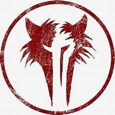 encadr 233 e de print symbole du loup garou sigil vent wolf