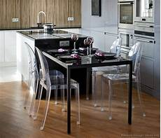 Kitchen Island Table With Chairs by Modern Luxury Kitchen With Black Island Table And