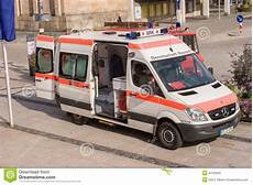German Ambulance Car Bavarian Cross Editorial Photo