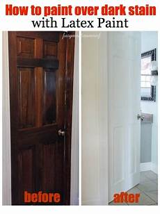 how to paint dark stained doors before after four