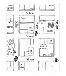 esl worksheets on directions 11836 giving directions level a with images town map create a map