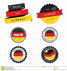 made in germany labels badges and stickers stock
