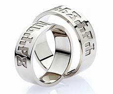 croatian wedding rings with spouses names written in glagolitic ancient writing used by croats