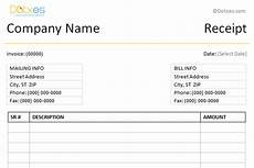simple receipt template word format dotxes