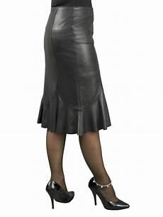 fishtail leather skirt below knee length tout ensemble