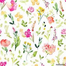 Flower Illustration Wallpaper by Floral Field Pattern Background Wallpaper Pink