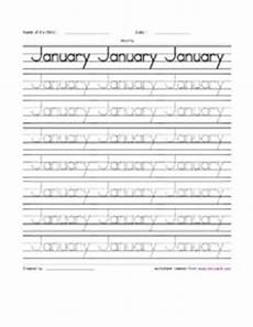 handwriting worksheets months of the year 21479 11 best images of months handwriting worksheets handwriting practice cursive writing practice