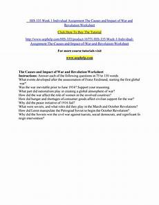 his 335 week 1 individual assignment the causes and impact