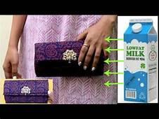 DIY Fabric & Cardboard Purse  Card Holder Clutch