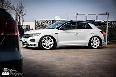 Vw T Roc Gets Lowered On White Bentley Wheels Autoevolution