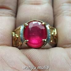 batu cincin permata merah delima ruby asli kode 860 wahyu mulia