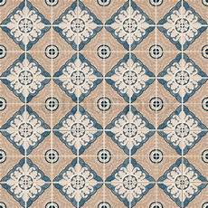 Seamless Tile Pattern Of Ancient Ceramic Tiles Stock
