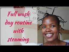 south hair blog full 4c natural hair wash day routine with steaming bylungi youtube