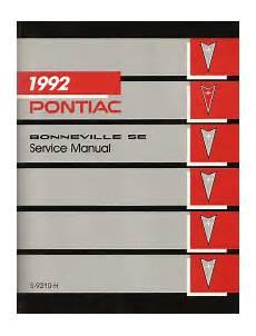 online auto repair manual 1992 pontiac bonneville on board diagnostic system 1992 pontiac bonneville se service manual