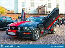 modern american muscle car ford mustang gt with lambo doors editorial image of