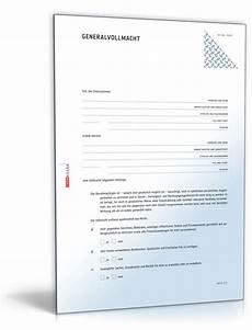 Generalvollmacht Ohne Notar Muster - generalvollmacht muster als pdf doc zum