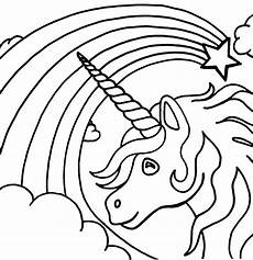 unicorn rainbow coloring pages at getcolorings free