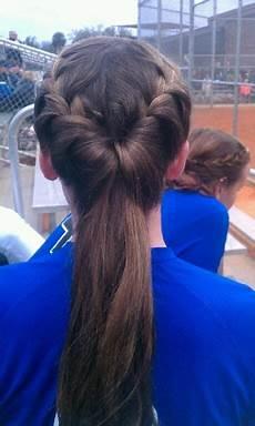 french braids into tucked ponytail 2012 softball season