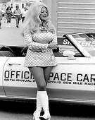 VINTAGE PIN UP Sexy Drag Racing Back Up Girl Barbara Roufs