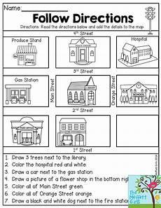 primary directions worksheets for grade 3 11693 back to school packets aulas de ingl 234 s para crian 231 as aulas de ingl 234 s adv 233 rbios de lugar