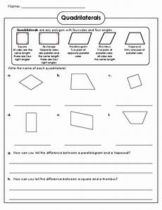 worksheets on geometry for 3rd grade 839 practice quadrilaterals for free with this worksheet and answer key freeeducation