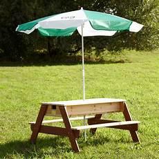 table bac à bois table de pique nique bois et eau nick 1 colis 36 x