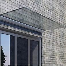 Vordach Glas Freitragend - glas vordach freitragend inkl klarglas b 1 25 m t 0 80 m