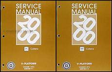automotive service manuals 2000 cadillac catera free book repair manuals 2000 cadillac catera repair shop manual original 2 volume set