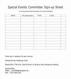 committee sign up sheet template 58 sign up sheets free premium templates