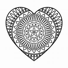 doodle mandala coloring page stock vector