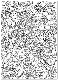 coloring book for adult and older children coloring page with vintage flowers outline drawing