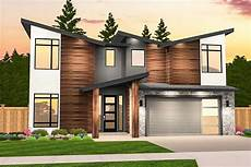 three striking modern home angular modern house plan with 3 upstairs bedrooms