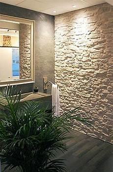 Badezimmer Wandgestaltung Mit Stein Lajas Badezimmer Mit