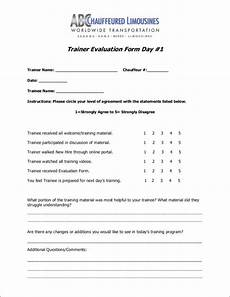 free 11 trainer evaluation form sles templates in pdf
