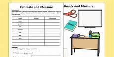year 1 estimating worksheets 8281 estimate and measure worksheet worksheet measurement estimate