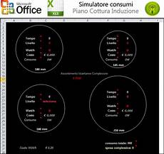 piani cottura a induzione consumi simulatore consumi piano cottura induzione excel forum