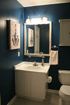 Bathroom Ideas Blue Walls by Not A Fan Of The Walls But The Mirror With A